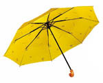 U0819 3-Fold Black Shaft Umbrella
